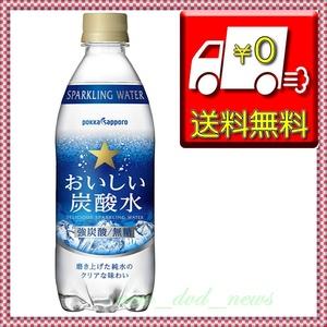 ★新品未使用・送料込即決★サッポロ おいしい炭酸水 500ml×24本 ◆純水を100%使用し、刺激的な炭酸感!!◆ 管理129