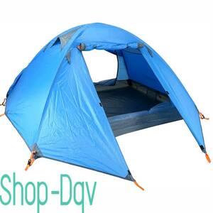 3人用 ブルー テント 軽量 コンパクト 持ち運び 設営 簡単 キャンプ ツーリング 避難 防災 ソロ 2人用