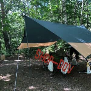 【格安】BUNDOK バンドック ヘキサゴン タープ 3~4人用 ヘキサ テント キャンプ ツーリング ソロキャン