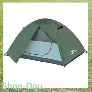 2人用 テント キャンプ ツーリング ソロ 1人用 軽量 コンパクト グリーン
