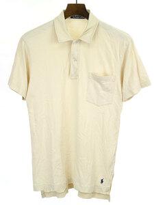 Polo by Ralph Lauren ポロ バイ ラルフローレン ワンポイントポニー刺繍ポロシャツ ベージュ S メンズ