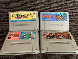 スーパーファミコンソフト  スーパードンキーコング2 &3 実況ワールドサッカー2 サンドラの大冒険 4本セット