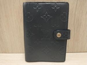 LOUIS VUITTON ルイヴィトン R20932 モノグラムマット アジェンダPM グレー ネイビー 手帳カバー