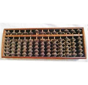 レトロ 昭和 五つ玉 そろばん 算盤☆中古品 アンティーク ビンテージ 算盤 当時物 骨董 古道具 木製