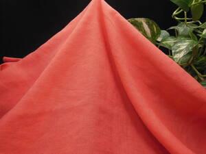 新入荷!掘り出し品!イタリー製!高級ブランドオリジナル!なかなか手に入らない!上質リネン&レーヨン!スカーレット152cm巾×1,5m