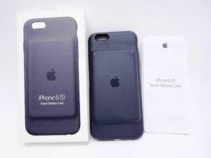 115s●Apple iPhone 6/6s Smart Battery Case ( チャコールグレイ) MGQL2AM/A 純正バッテリー内蔵ケース ※中古