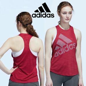 adidasタンクトップ adidasレディースジム・トレーニングノースリーブシャツタンクトップ 筋トレ