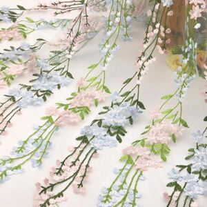 刺繍レース レース生地 小花柄