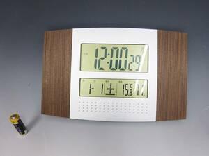 ◆電波時計 デジタル 置時計 インテリア雑貨 動作確認済み 家電 目覚まし時計 小物 アラーム付き