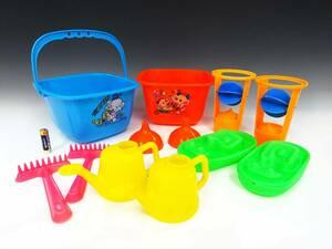 ◆昭和レトロポップ 玩具 まとめて12点セット バケツ ジョウロ おもちゃ 子供用 お風呂 砂遊び 遊具 水遊び 動物柄 雑貨 海 公園