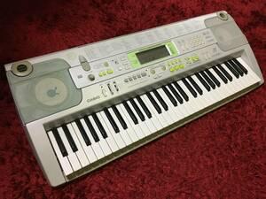 CASIO カシオ LK-202TV 電子ピアノ 光ナビゲーションキーボード シルバー 初心者 練習用 楽器 機材 動作確認済み
