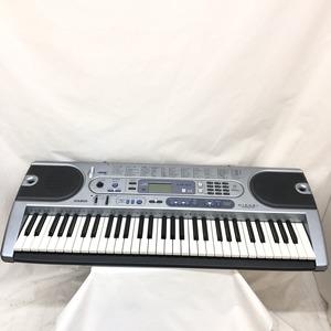 中古 CASIO カシオ 電子キーボード LK-41 61鍵盤 光ナビゲーション シルバーブルー 電子キーボード 鍵盤楽器 アダプター付き H15120