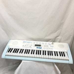 中古 CASIO カシオ 電子キーボード 光ナビゲーション LK-108 61鍵盤 ホワイト ライトブルー タッチレスポンス 電子ピアノ H15123