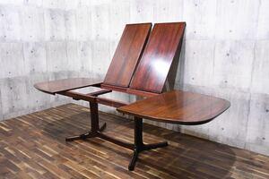 ADK162 北欧 デンマーク dyrlund デューロン 伸長式 ダイニングテーブル ローズウッド材 165-265cm エクステンションテーブル ヴィンテージ