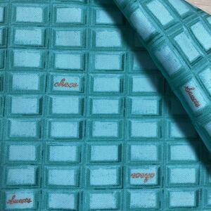 ミント チョコレート お菓子柄 オックス 生地 はぎれ ハンドメイド 素材 板チョコ 布