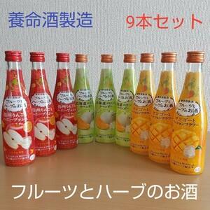 養命酒 フルーツとハーブのお酒(りんご・メロン・マンゴー)飲み比べ9本セット(3種類×3本ずつ)