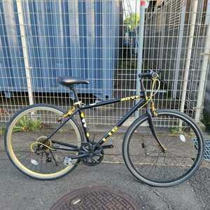 【引取限定 京都市】クロスバイク LIG MOVE ブラック 自転車 シマノ7段変速