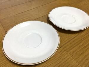 美品 2枚 ノリタケ noritake ソーサーのみ 金彩 金縁 約16cm ティーソーサー コーヒーソーサー カップ&ソーサー シンプル 陶器