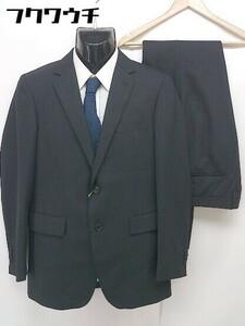 ◇ ◎ ●新品● P.S.FA 総裏地 タグ付き 定価2.7万円 シングル パンツ スーツ 上下 サイズ94A6 ダークグレー系 メンズ