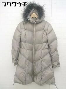 ■ TATRAS タトラス 長袖 ダウン ジャケット コート サイズ36 グレー レディース