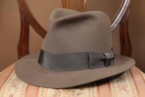 DRAGON HAT 30sソフト帽レプリカ サイズ 7 3/8(60㎝)/戦前国民服銃後カンカン帽パナマ帽背広スーツ20s40s50sボルサリーノSTETSON