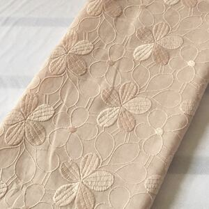 国産高級刺繍レース生地 豪華花刺繍レース生地 花柄刺繍 綿レース ハギレ