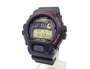 3AQ 美品 定価1.2万 CASIO カシオ G-SHOCK 6900シリーズ FOX FIRE フォックスファイヤー DW-6900B-9 Gショック メンズ 腕時計