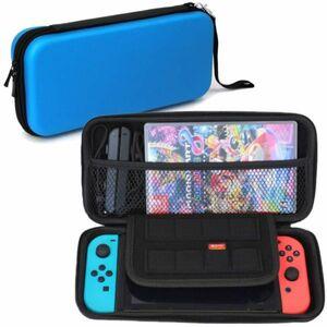 【 1円 】Nintendo Switch ケース ブルー 青 スイッチ ケース 任天堂 スイッチ 収納 保護 大容量 ケース バッグ EVA素材 耐衝撃