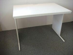MB/C18AX-T00 埼玉手渡限定 オフィス 平机 デスク テーブル ホワイト 幅100cm 奥行70cm 高さ70cm 木製 スチール