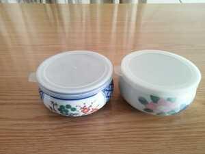 蓋付き 陶器製器 鉢 新品、未使用品 2個組