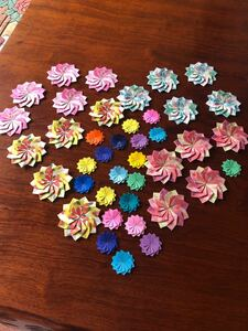 折り紙のギフト用花飾り
