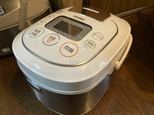 【通電OK】Haier/ハイアール マイコンジャー炊飯器 JJ-M55B 1.0L/5.5合炊き 2016年製 極厚釜 ホワイト【AC-385】