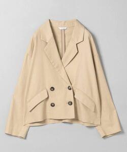)【JEANASIS】 リネンショートWジャケット/873493 テーラードジャケット サマージャケット