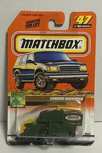 日本未発売 マッチボックス コンバイン ハーベスター グリーン 緑 matchbox combine harvester 牧場 農場 家畜 農家 農業 ミニカー 模型