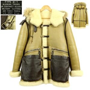 【S1601】【新品同様】【希少】MILITARY CLOTHING ミリタリークロージング B-7 フライトジャケット レザージャケット ムートンジャケット