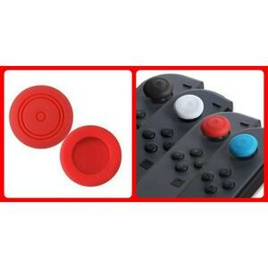 ニンテンドースイッチ スティック ジョイコン シリコン カバー 2個セット 赤