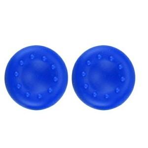 2個セット PS4等 コントローラー キャップ ジョイスティック カバー 全青