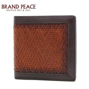 ベルルッティ マティス 二つ折り財布 レザー ダークブラウン/ブラウン ブランドピース