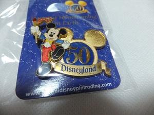 海外 ディズニーランド 50周年 ピンバッジ ミッキー 限定 記念