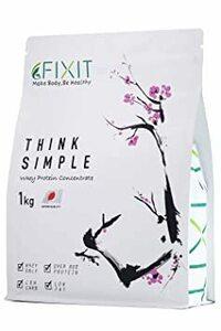 1kg FIXIT プロテイン ホエイ プロテイン 人工甘味料不使用 THINK SIMPLE 1kg WPC (プレーン)