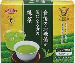 大正製薬 【特定保健用食品】 食後の血糖値が気になる方の緑茶 〔高級茶 難消化性デキストリン〕 30袋