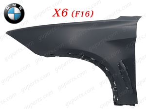 ◆ BMW X6 シリーズ F16 2014~2019 フロント 左 フェンダー 51657418955 51 65 7 418 955 xDrive 35i xDrive 50i KU30 KU30S KU44 KU44S
