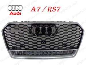 ★ アウディ A7 4G RS7 クワトロ タイプ 2015~ 4GCYPC 4GCREC フロント バンパー ラジエーター グリル クローム メッキ