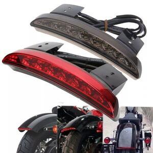 バイクオートバイライトリアフェンダーエッジ赤色ledブレーキテールライトバイク用ハーレーツーリングスポーツスターxl 883 12