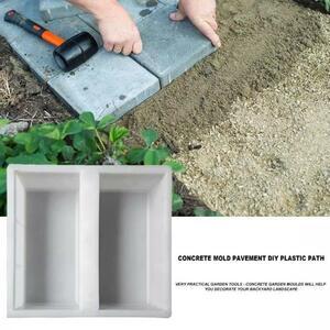 プラスチックガーデンパスメーカー舗装セメント型道路コンクリート舗装モールドdiyウォーク手動で道路パス舗装セメントレンガ金型