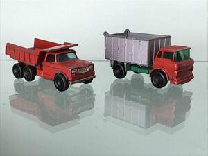 送料無料 マッチボックス ダンプカー トラック ミニカー セット MATCHBOX DUMPER TRUCK