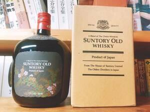 サントリー ウイスキー オールド  花ラベル  記念ボトル 未開栓 特級表記 箱付き Suntory whiskey