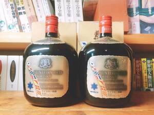 サントリー ウイスキー オールド   神戸ポートピア 1981年記念ラベル 2本セット 未開栓 特級表記 箱付き Suntory whiskey