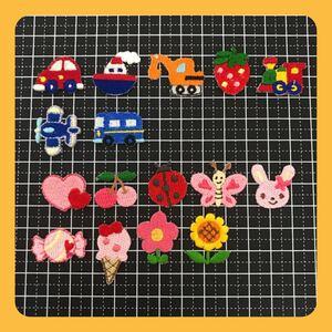 アイロン接着 刺繍ワッペン(日本製)16枚セット