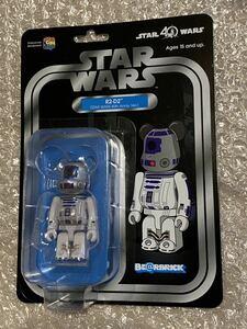 BE@RBRICK R2-D2 STAR WARS 40th Aniv. Ver. 100% スターウォーズ ベアブリック 新品 メディコムトイ 限定 ダースベイダー ディズニーc3po